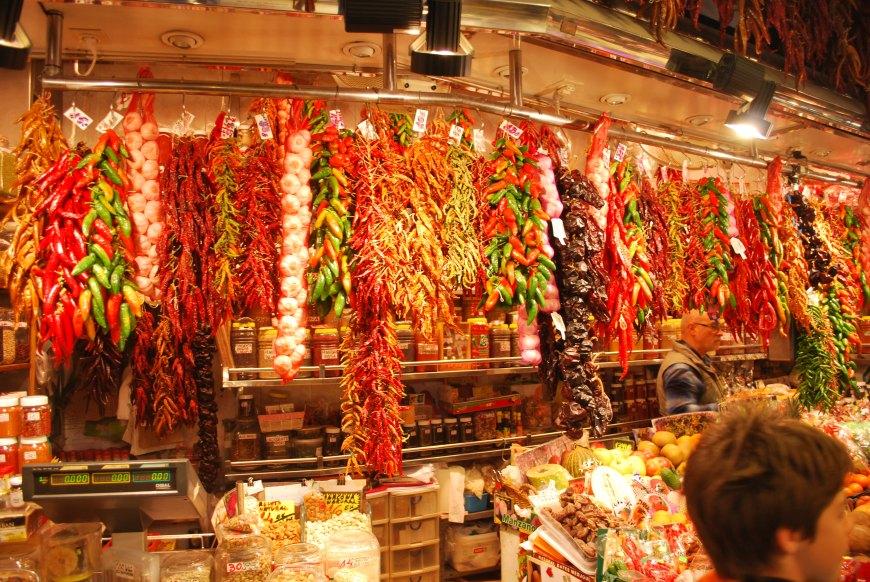 Chillies, La rambla Market, Barcelona